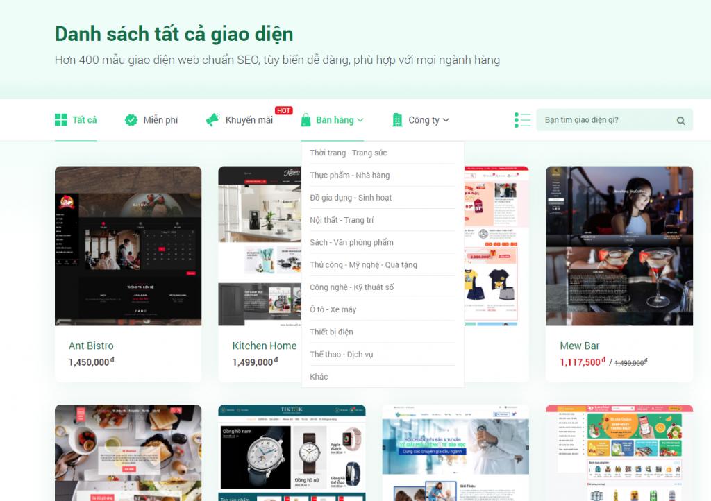 Các nền tảng web bán hàng phổ biến tại Việt Nam - Sapo